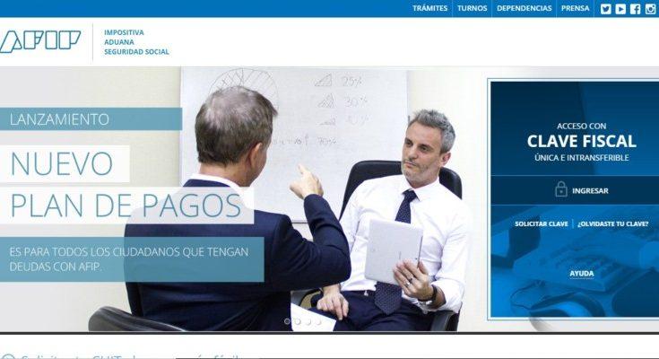 Afip web principal
