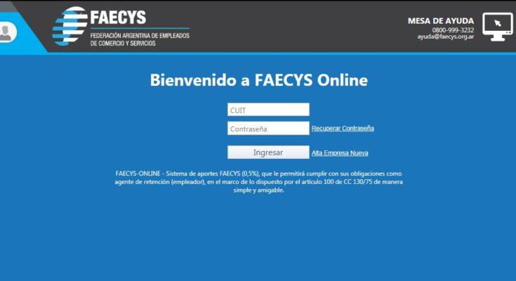 Cómo ingresar a Faecys Online • Genera tu propia boleta de pago y dónde pagar contribuciones