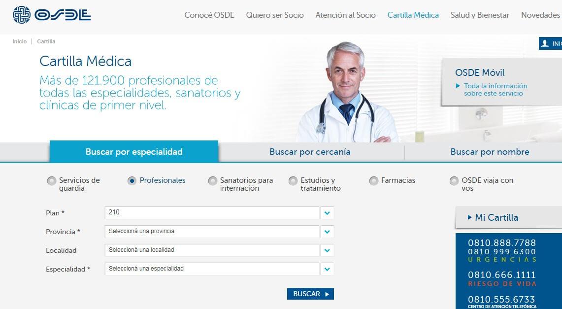 Consultar cartilla médica OSDE