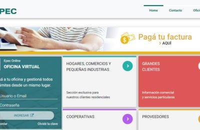 Facturas de Epec - Cómo imprimir, actualizar facturas vencidas y cómo pagar