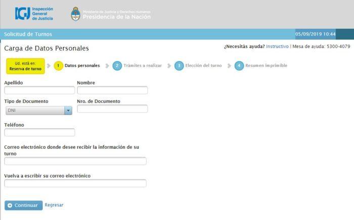 Paso 2: Completa el formulario IGJ