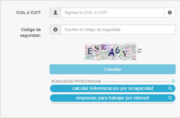 Paso 2 Introduce el CUIT o CUIL