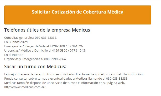 Planes de salud prepaga disponibles en las cartillas Medicus
