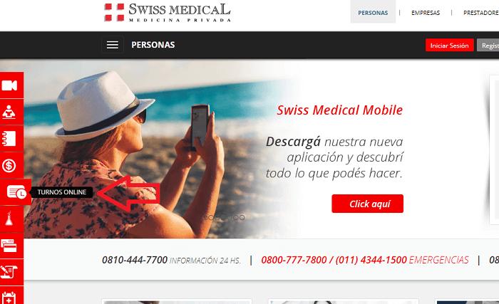 Turnos olline Swiss Medical