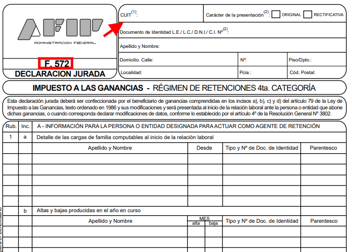 formulario 572 siradig